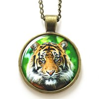 american wildlife - 10pcs Tiger necklace Wildlife necklace the monarch of all beasts necklace print photo Jungle king necklace