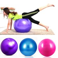Wholesale new Sport Pilates Violet Blue Pink Yoga Fitness Ball Exercise Balls Peanut Exercises Balance Gymnastic Pad cm ball free shiping