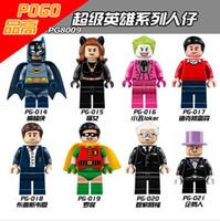 batman classic comics - 480pcs PG8009 Building Blocks Super Heroes Minifigures DC Comics Batman Classic TV Series Batmancave Dick Grayson Alfred Penguin Toys