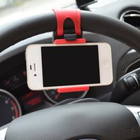 Wholesale 2016 new car Vehicle mounted mobile Dashboard steering wheel to hang buckle vehicle mobile phones navigation tower scaffold