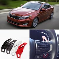 Wholesale 2pcs Brand New High Quality Alloy Add On Steering Wheel DSG Paddle Shifters Extension For Kia K5