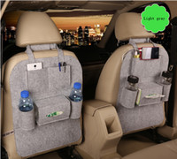 Wholesale Car Styling Back Seat Storage Bag Stowing Tidying Multi Pocket Felt Organiser Bottle Magazine Cup Food iPad iPhone Phone Bag