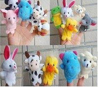 Wholesale Cartoon animal finger puppets finger toys finger dolls baby toys animal doll