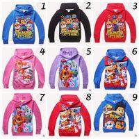 Wholesale 41 Styles Paw Dog Sweatshirt Toddler Hoodies Kids Cartoon Long Sleeve Paw DOG Hoodies Kids Sofia Bayman Snow White Hoodies CCA4521