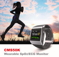 Wholesale Best Blood Pressure Monitor Multifunction Digital Wearable Monitor CMS50K Spo2 ECG Pedometer Calorie Sleep