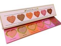 Wholesale Factory Direct New Makeup Face Love Flush Blush Wardrobe Heart Shaped Palette Colors Blush DHL Fedex Free
