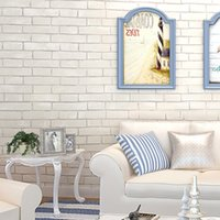 art prints store - 3D Non woven Wallpaper Imitation Brick Pattern Living Room Bedroom Clothing Store White Brick Pattern Wall Decor Art Wall Paper