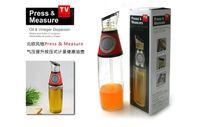 Wholesale 500ml Glass Oil And Vinegar Dispenser Measurable Pressing Button Olive Oil Bottles Kitchen Tools Free DHL