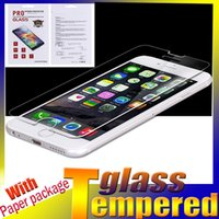 Wholesale For iPhone H Premium Tempered Glass Screen Protector Film For Iphone Plus S Samsung Galaxy S7 Edge HTC M9 LG G5 SONY Z5 Plus