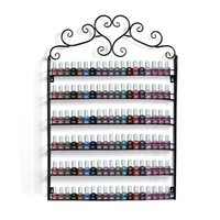 Metal beverage holder stand - Metal Frame Nail Polish Salon Exhibition Display Wall Rack Storage Shelf Fit Up To Bottle Layer Stand Holder Homestyle US02