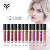 Wholesale High quality Huamianli color Paguma non stick cup does not fade matte matte Liquid Lip Gloss Lipstick