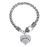 mothers day gift - My Shape Mother s Day Series Fashion Jewelrys Heart Shape Crystal Engrave MOTHER OF THE BRIDE Pendant Bracelets For Mother s Day Gift