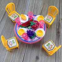 Wholesale pu baby girl toy Pretend Play Kitchen Toys fruit stool bowl gift for kids