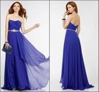 Wholesale Custom Design Waist Sashes - Cheap Dress Blue Prom Dresses High Low Dress Tiered Ruffles Sash Crystals Chiffon Stylish Design Empire Waist Zipper Back