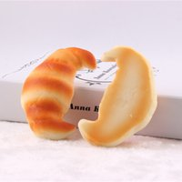 Wholesale 10 discount Rare Soft Bread croissant scones Jumbo Model Food Wrist Soft Cushion cheap wholesaledollar price kawaii squishies