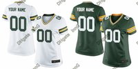 authentic packers jerseys - 2016 Packers Women Custom Football Jerseys Home And Away Green White Authentic Stitched Wear Rodgers High Quality Low Price