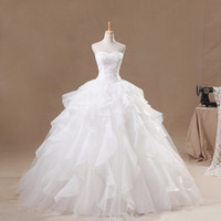 ball gowns australia - 2015 Famous Real Picture Wedding Dresses White Organza Corset Bridal Gowns Ball Gown Bride Dress Australia Vestido De Noiva Sereia Women