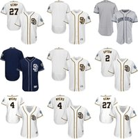 baseball matt kemp - Men s Women San Diego Padres Matt Kemp Melvin Upton Wil Myers Blank Grey White Blue All Star Baseball Jersey jersey