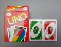Wholesale Family Funny Entertainment Board Game UNO Fun Playing Cards UNO card with English Instruction parent child Interactive toy