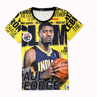 allen fashion - Paul George Jersey Tee Shirt Homme Team usa Basketball T Shirt d Fashion Steph Curry Sport Top Allen Iverson Tshirt Irving