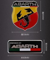 Wholesale 60 mm abarth sticker mm mm abarth Labeling Car Aluminum Alloy Badge Sticker Emblem Decal Sticker car sticker