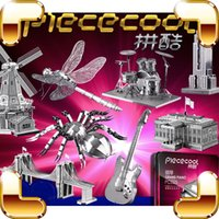 Wholesale New Package Gift D Metal Model Building Insect Music Instrument DIY Handmade Nano Models Alloy Mini Collection Decoration Toys