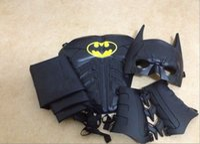 batman dark knight costumes kids - Batman cosplay Costume Dark Knight Collector Custom mask cape armor wristbands set Batman Halloween costumes for kids C1229