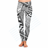 abstract leggings - Custom Made fashion Trippy Abstract Print D Sublimation Print female Milk Silk Ninth Legging Fitness Workout Pants