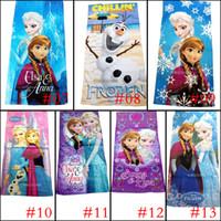 Wholesale PrettyBaby designs cartoon style children bath towels cm Zootopia and Frozen figures cotton