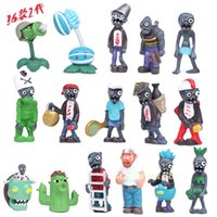 Wholesale 16pcs set Halloween Zombies Cartoon Doll Toys Kids Birthday Gifts CM Collection Articles Action Figures Toy