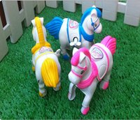 Wholesale Small Toy Chain on the Horse Vaulting Horse Wind Up Horse Toys Jumping Horse New Arrival