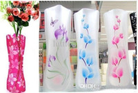 Wholesale HOT SELL PVC vase foldable vase small opp bag eco friendly vase DIY flower vase MIX Size folding vase