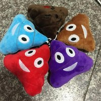 Wholesale New cm multicolor emoji plush toys Pillow Cushion cartoon inches Poo Stuffed Animals Pillows dolls EMS
