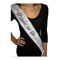 bachelorette party sashes - Bride to Be Lace Sash Party Wedding Decoration for Bachelorette Party Party Dress Accessories Event Decoration Supplies