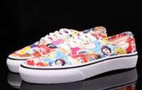 beatles rubber - Mickey Mouse and Donald Duck Winnie Belle mermaid Beatles canvas shoes for men and women
