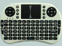 al por mayor aa grado-Grado AA calidad I8 mosca ratón de aire 2.4G Mini teclado inalámbrico juego Ratón para ordenador tv caja con caja al por menor