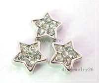 Wholesale 10pcs crystal star Floating Charms For living memory Locket FC096