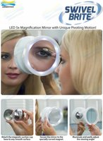 Wholesale DHL Swivel Brite LED X X Magnification Mirror Swivel Action The Bathroom Cosmetic Mirror Makeup Mirror Compact Mirror