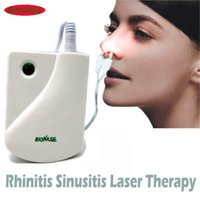 Wholesale Retail Package BioNase Rhinitis Sinusitis Nose Therapy Massage Device Cure Hay Fever Low Frequency Pulse Laser Therapentic Masseur