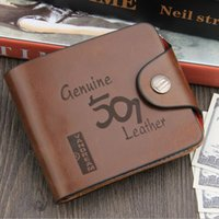 Wholesale Fashion men wallets famous brand genuine leather wallet hasp design wallets with coin pocket purse card holder for men carteira