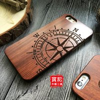 best wood for carving - Best Eco friendly Wood Case For iPhone S SE S Plus Original Ecology Rosewood PC Carving Designs Covers Hard Wooden Compass Pattern Shell