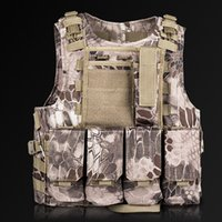 Wholesale New Arrival Tactical Vest Snake Pattern Camo Chest Rig Molle Military Vest Combat Carrier Vest Hunting Waistcoat ME0035