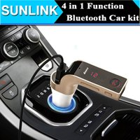Wholesale Multifunction in CAR G7 Bluetooth FM Transmitter with USB Flash Drives TF Music Player Bluetooth Car Kit USB Car charger