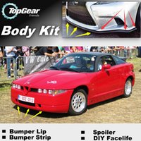 Wholesale Bumper Lip Lips For Alfa Romeo RZ SZ AR ES Front Skirt Deflector Spoiler For Car Tuning The Stig Recommend Body Kit Strip