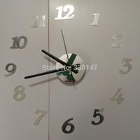 best combination locks - locks Wall Clocks X45cm Quality acrylic crystal interesting diy clock combination digital wall clock brief quieten Best home decoration