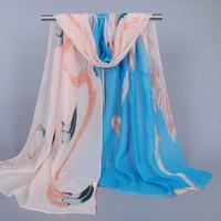 african towels - Korean Female Chiffon Scarf Towel Scarf African Bird Cartoon Design Women Shawls Scarves