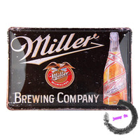 beer brewing business - Miller Brewing Company Tin Sign Beer Bar Garage Man Cave Business Bottles D75