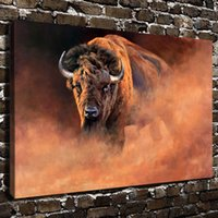 arts cow free shipping - Original US High tech HD Print Oil Painting Art On Canvas Scenery Animal cow x18inch Unframed