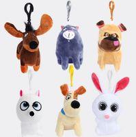 Wholesale 6 Styles Keychain The Secret Life of Pets plush toys Keychain inch cartoon Stuffed Animals cm super soft keychain Pendant