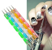 Wholesale 5pcs Nail Art Tools way Dotting Pen Marbleizing Tool Nail Polish Painting Manicure Dot Nail Art Set